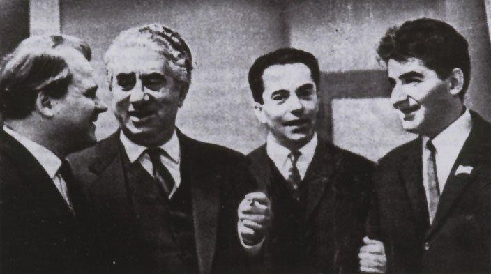 Tikhon Khrennikov, Aram Khachaturian, Konstantin Orbelian, Edward Mirzoyan (1)