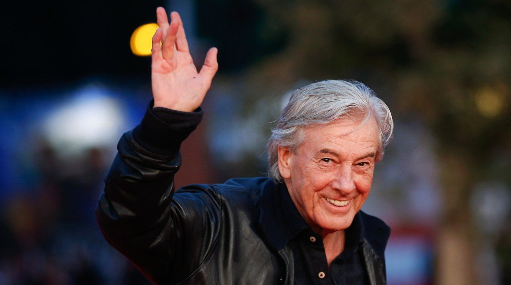 Dutch director Verhoeven waves during the red carpet of the movie Steekspel at the Rome Film Festival