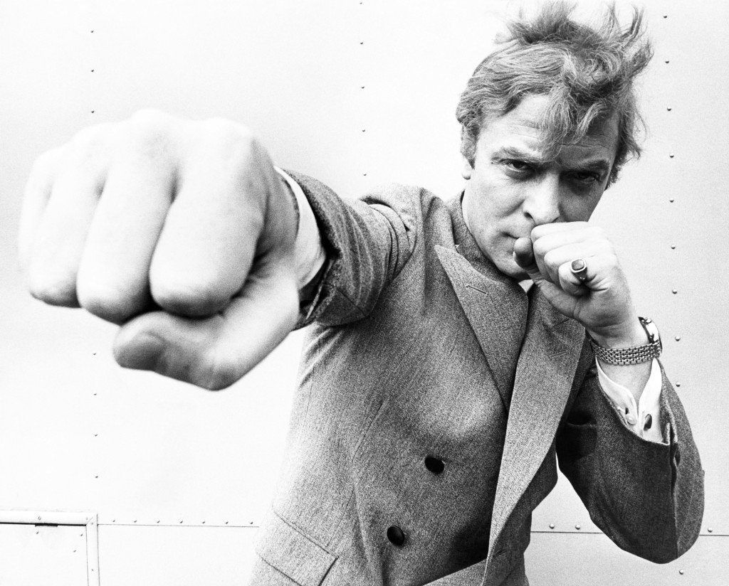 Michael Caine Throwing A Punch